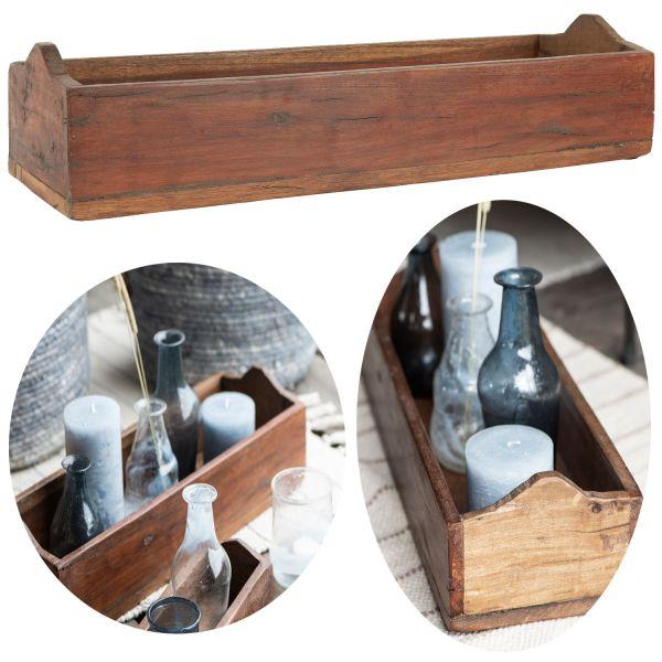 Holz Allzweck-Kiste 40cm Unika Recycelt Deko Aufbewahrungs-Box Kasten