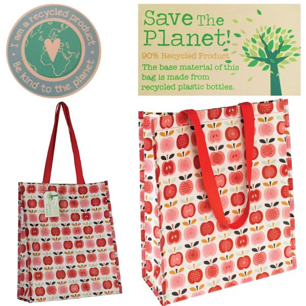 Shopper Einkaufstasche Vintage Apple Recycled Strandtasche Schultertasche