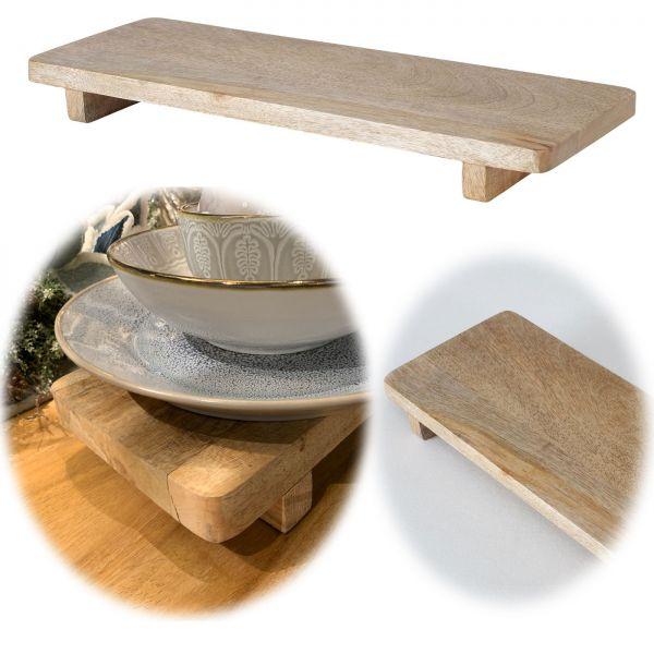 Deko-Tablett 41cm Mango-Holz Kerzenteller Kerzentablett Serviertablett