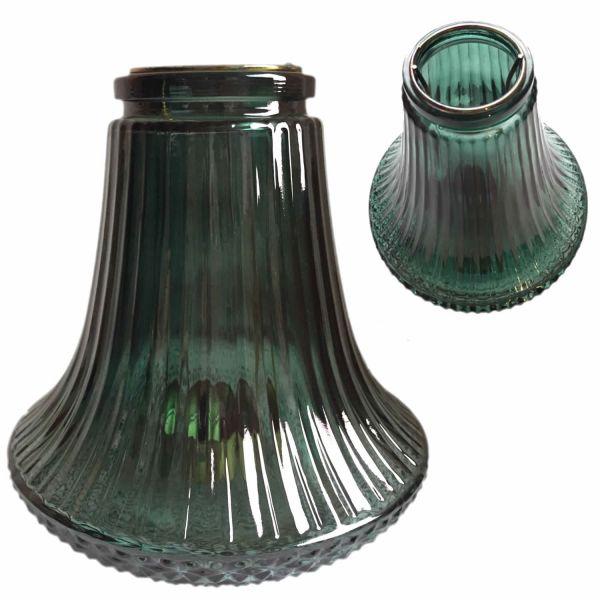 Design Teelichthalter Teelichtständer Windlicht Laterne Glas Grün