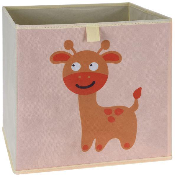 Kinder Aufbewahrungsbox Reh 32x30cm Faltbar Spielzeugkiste Organizer