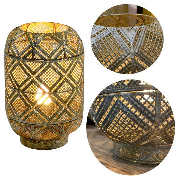 Tischlampe Siam Gold 31cm E27 Tischleuchte Bodenlampe Stehlampe