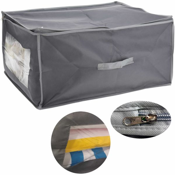 XL Vlies Unterbettkommode Grau 60x35x40 Unterbettbox Aufbewahrungsbox