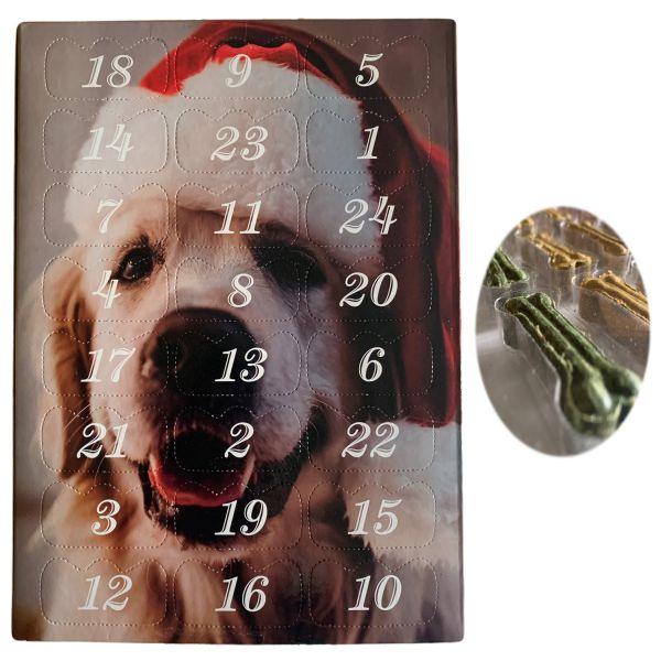 Hunde Adventskalender Labrador 27x20cm 24 Leckerli´s Hundeknochen