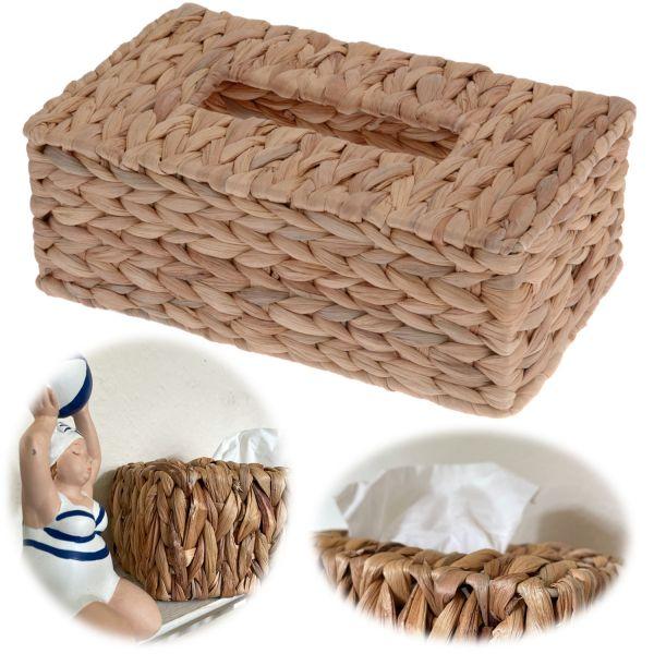 Tissue-Box 26cm Braun Rattan Style Kosmetiktuch-Spender Taschentuch