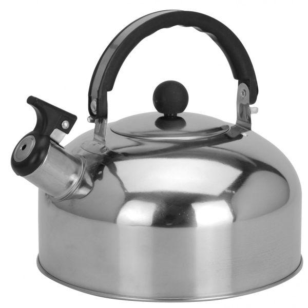 Edelstahl Flötenkessel 2,0L Camping Wasserkessel Pfeifkessel Teekessel