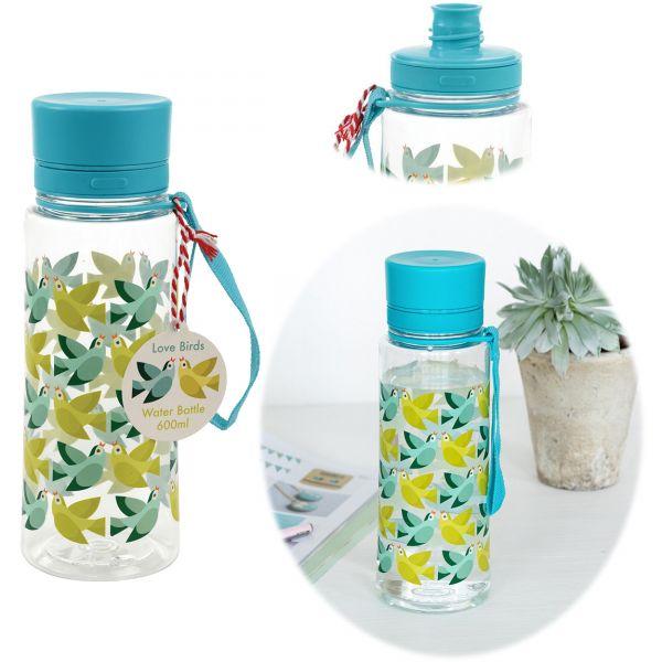 Kinder Trinkflasche Love Birds 600ml Wasserflasche Kunststoff BPA-frei