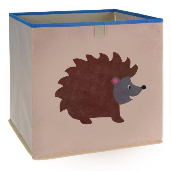 Kinder Aufbewahrungsbox Igel 32cm Faltbar Spielzeugkiste Organizer