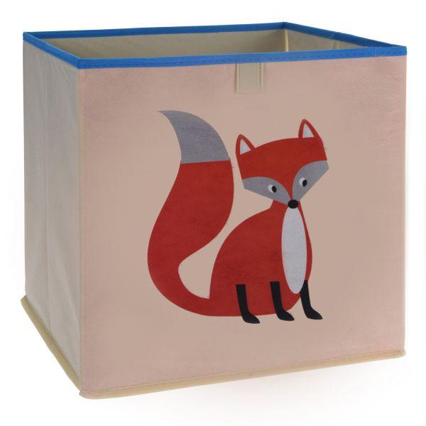 Kinder Aufbewahrungsbox Fuchs 32cm Faltbar Spielzeugkiste Organizer
