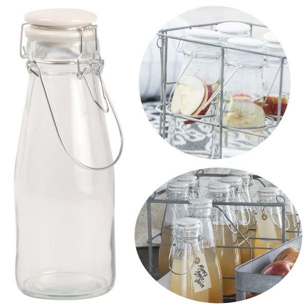 Nostalgie Wasserflasche 500ml Bügelverschluss Bügelflasche Milchkanne