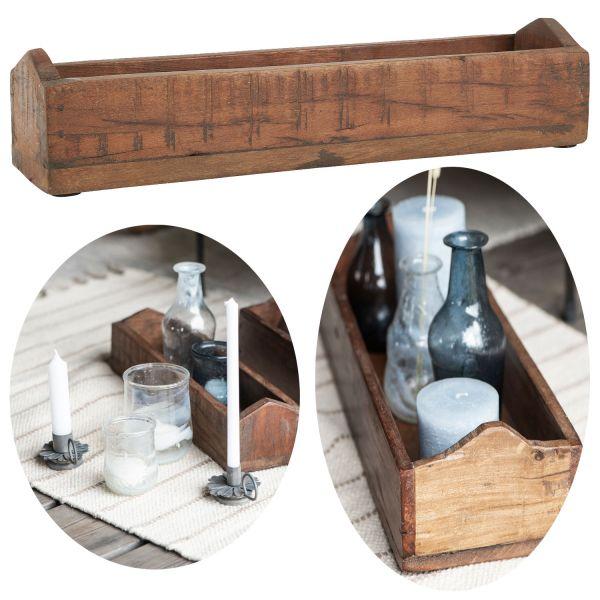 Holz Allzweck-Kiste Aufbewahrungs-Kasten 30cm Unika Deko-Box Dekoration