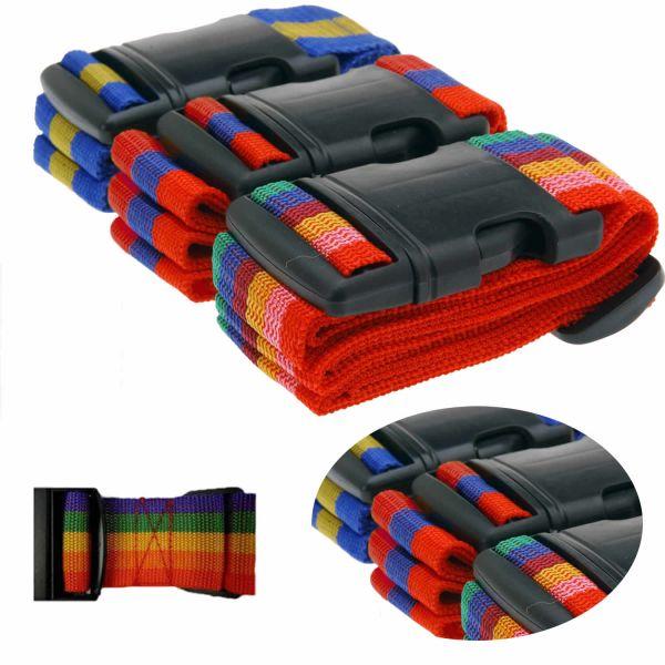 3 x Koffergurt Gepäckgurt Gepäckband Kofferriemen Kofferband Gurt