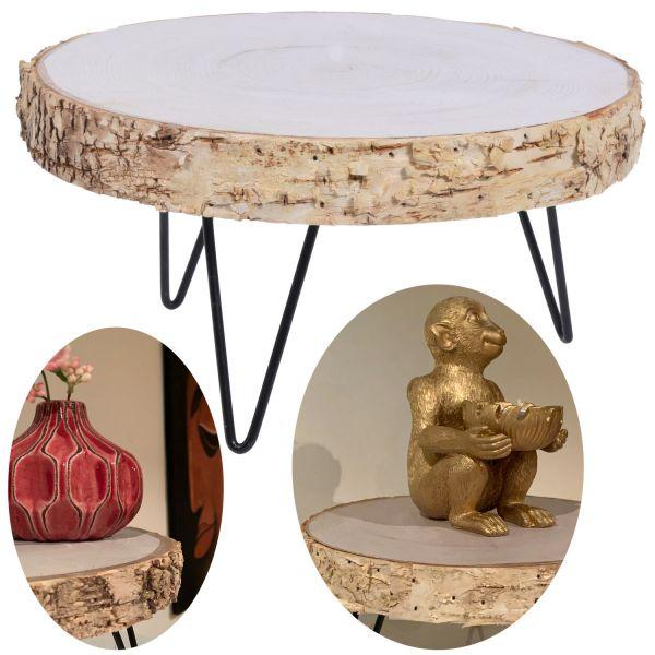 Holz Mini Beistell-Tisch 21cm Deko-Tablett Blumenständer Pflanzenhocker