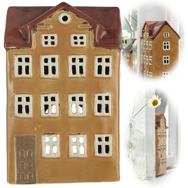 Teelichthaus Lichterhaus 21cm Keramik Fachwerkhaus Nyhavn Teelichthalter