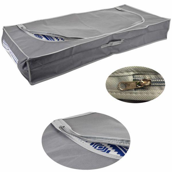 XL Vlies Unterbettkommode Grau 105x45x16 Unterbettbox Aufbewahrungsbox
