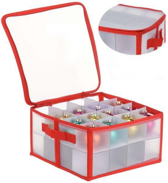 Aufbewahrungsbox Organizer für 32 Weihnachtskugeln Christbaum-Kugeln