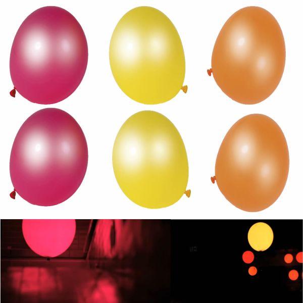 6 LED Luftballons Ballon Geburtstag Hochzeit Feier Party Deko - Mädels -
