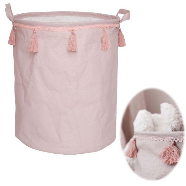 JaBaDaBaDo Kinder Aufbewahrungsbox Rosa 40cm Wäsche-Sack Korb K033