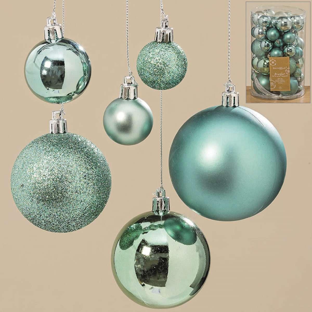 Christbaumkugeln Türkis Kunststoff.50 Design Kunststoff Weihnachtskugeln 3 7cm Grün Bamkugel Dekokugel