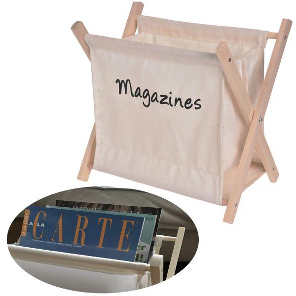 Holz Magazinständer Creme 30cm Zeitungsständer Zeitschriftenständer