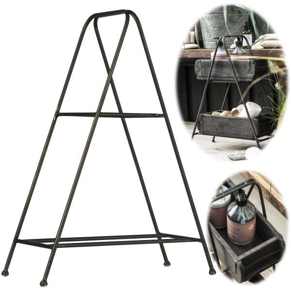 Ziegelform-Ständer Tischständer 52cm Schwarz Bad-Regal Küchen-Regal