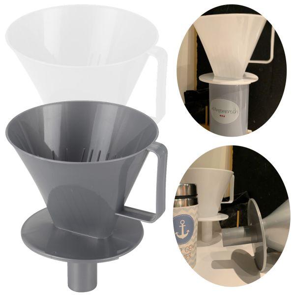 2x Kaffeefilter Aufsatz Handfilter-Tüten Nr.4 Kaffee-Bereiter Halter