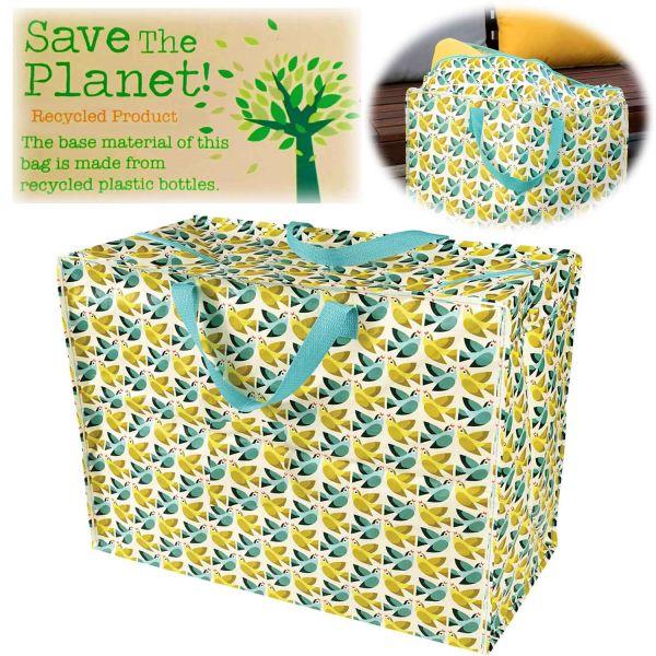 XXL Jumbo Bag Love Birds Recycled Öko Allzwecktasche Einkaufstasche