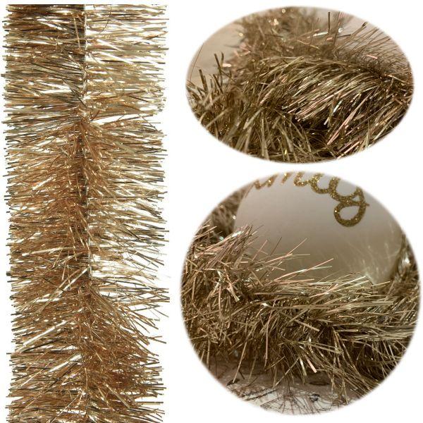 Weihnachts-Girlande 2,70 Meter Gold Lametta Party Baum-Deko