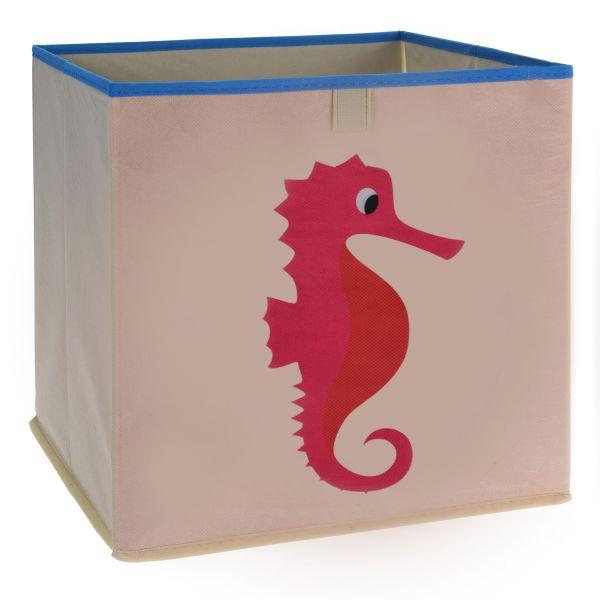 Kinder Aufbewahrungsbox Seepferd 32cm Faltbar Spielzeugkiste Organizer
