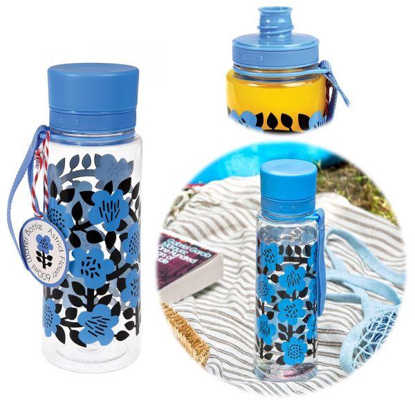 Kinder Trinkflasche Wasserflasche Blumen 600ml Kunststoff BPA-frei
