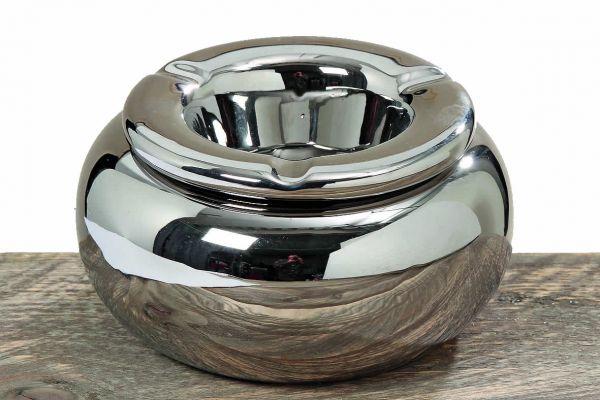 Design Sturmaschenbecher Windaschenbecher Silber Steingut Aschenbecher
