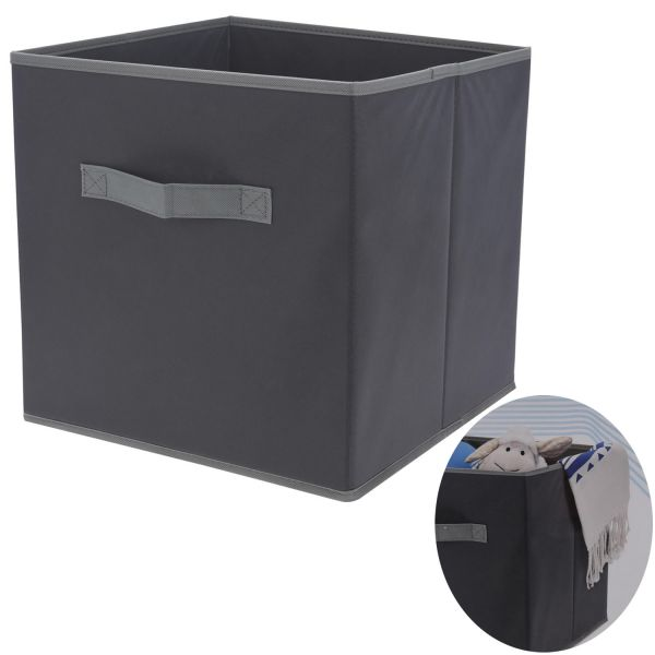 Faltbox Faltkiste Box Kiste Schublade Socken Spielkiste Staubox Grau