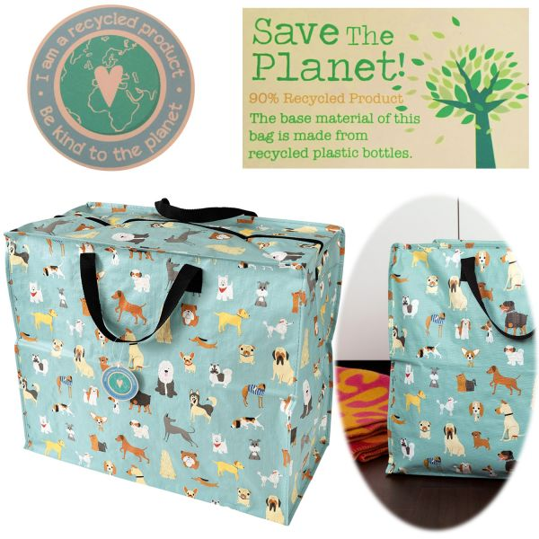 XXL Jumbo Bag Dog´s Hunde 55cm Allzweck-Tasche Recycled Einkaufstasche