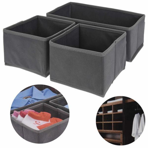 3x Organizer Set Faltbox Regalbox Faltkiste Aufbewahrungsbox Staubox