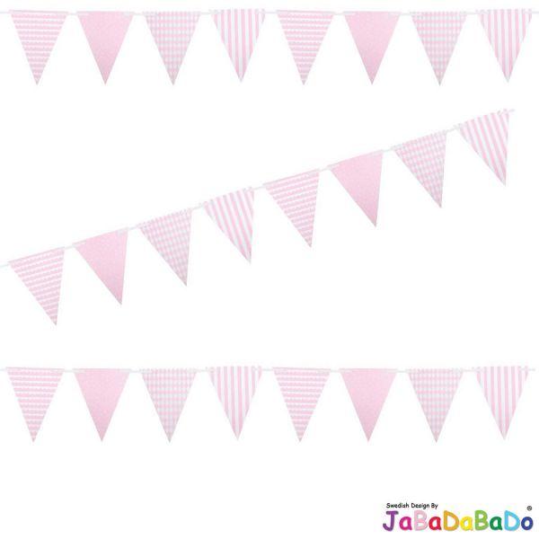 JaBaDaBaDo XL Wimpelkette Rot Mix Girlande Geburtstag Party Z17164