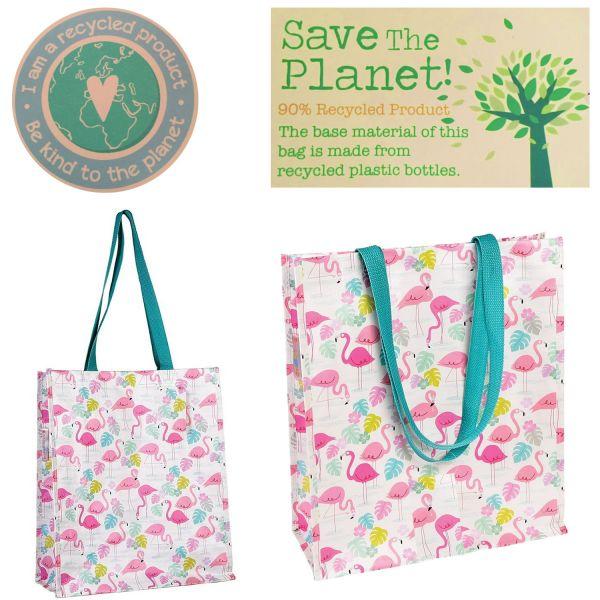 Shopper Einkaufstasche Flamingo Recycled Strandtasche Schultertasche