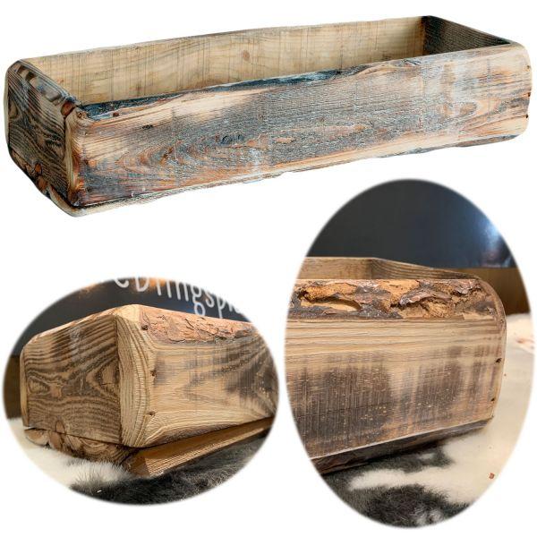 Holz Aufbewahrung-Box Kiefer 47x19x10cm Cutlery Deko Kasten Ziegelform
